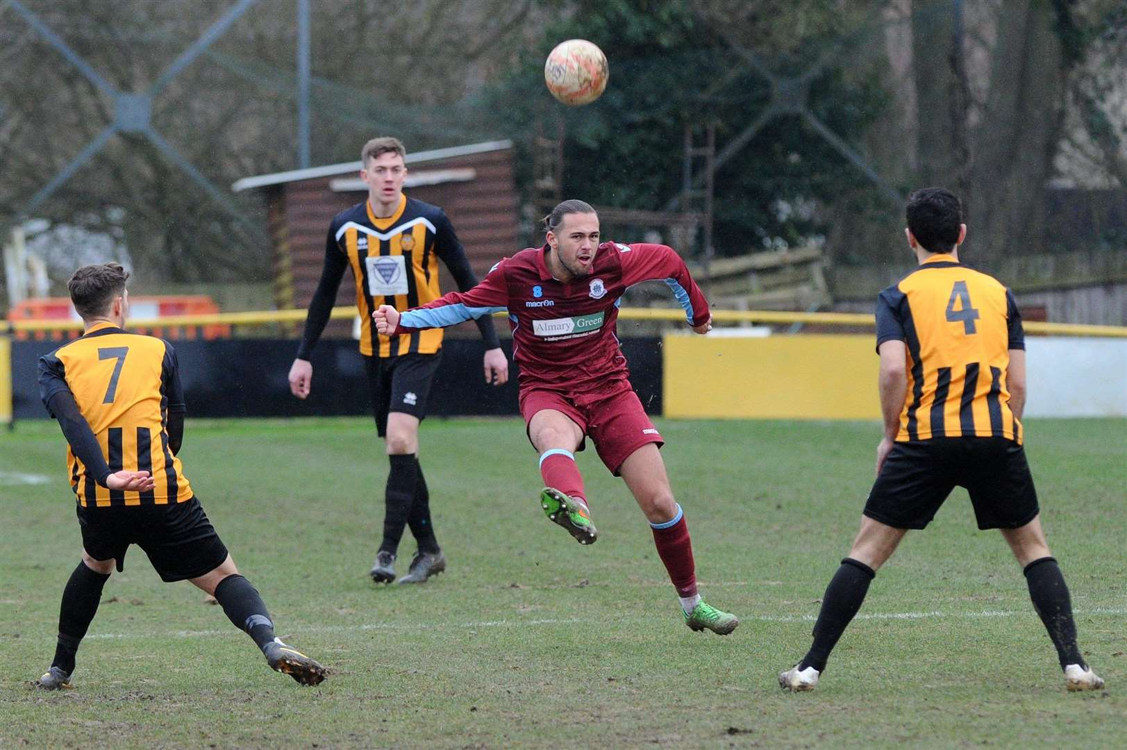 NEW CLUB: Max Melanson, pictured in action for Thetford at Greens Meadow last season, has joined Stow