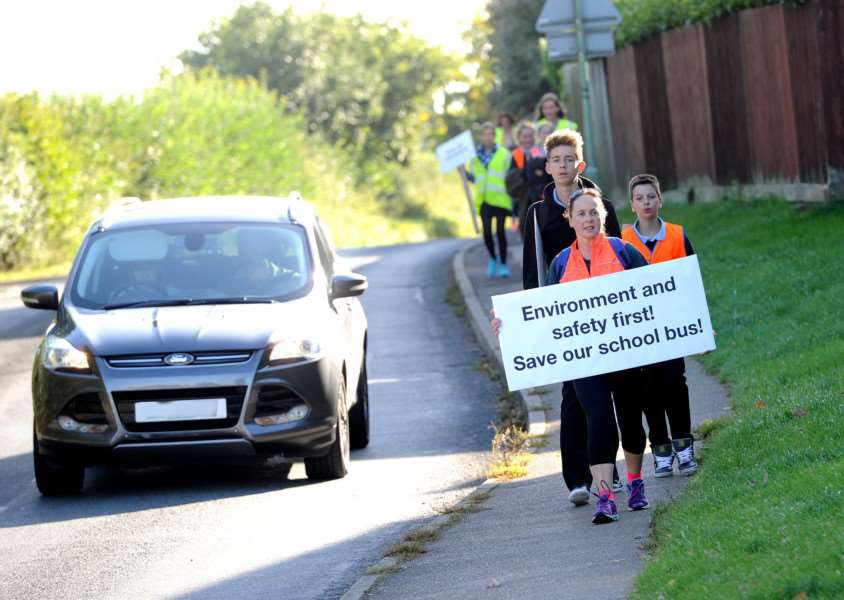 Protest Walk to Thurston Community College from Felsham