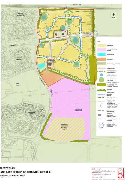 Taylor Wimpey's plan for Moreton Hall