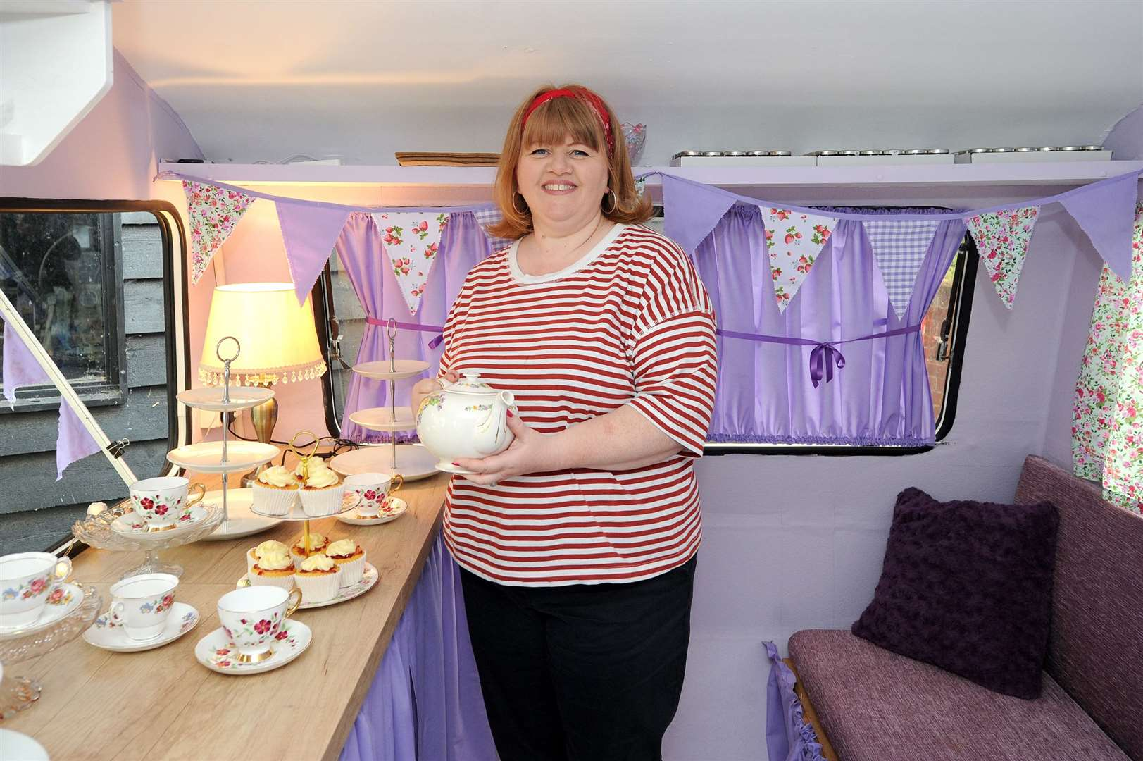 Nicola Littlejohn, who almost died from a brain haemorrhage after giving birth to her son 12 years ago, has fought her way back to health and is now running own business baking cakes and has just launched her own mobile tearoom in a caravan.....PICTURE: Mecha Morton... (11751209)