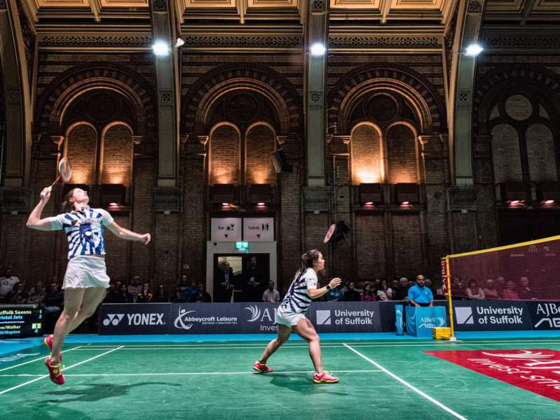 Suffolk Saxons' Sarah Walker and Fee Teng Liew in action at the Ipswich Corn Exchange, which had become their home venue and was sold out virtually every match in the AJ Bell National League