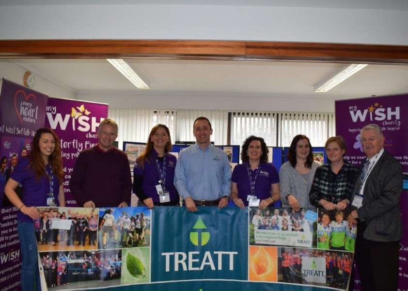Members of Treat and My WiSH, who have worked together to get the sponsorship of the trail