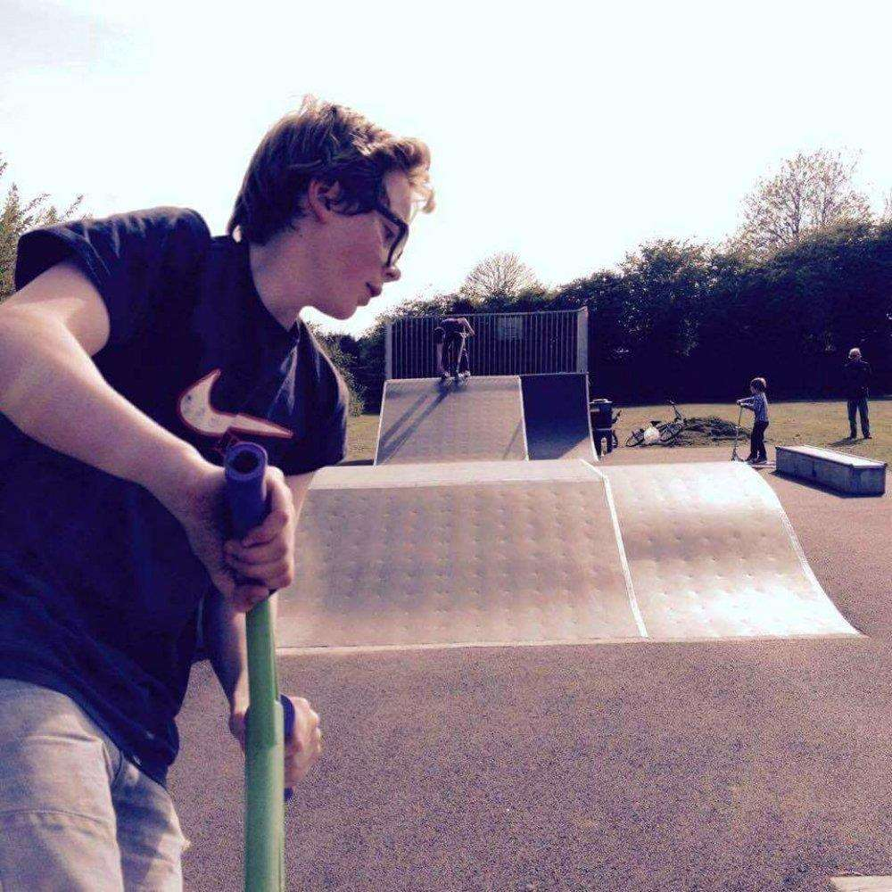 The funds from Benni's Chill will go towards eventually making a permanent skate-park in Thurston in memory of Ben Wragge (pictured)
