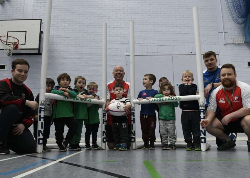 FUTURE STARS? Youngsters enjoying the Ruggerbugs session at Haverhill Leisure Centre