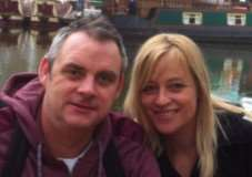 Simon Dobbin, from Mildenhalll, has been left with serious head injuries after being attacked in Southend. Pictured with wife Nicole. ANL-150325-145827001