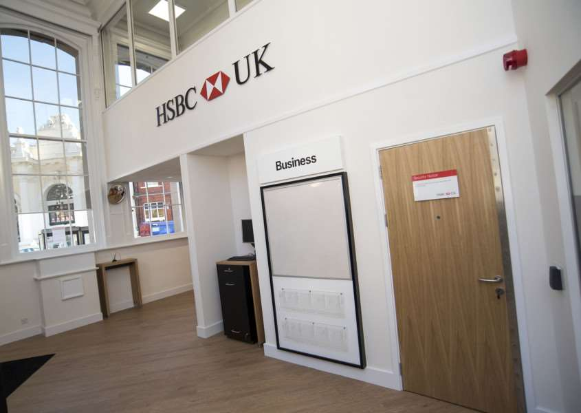 SUDBURY: HSBC reopening after fire 'HSBC, 46 Market Hill, Sudbury 'First look inside and out of HSBC which is reopening after the fire which ripped through Sudbury town centre in September 2015'Picture Mark Westley ANL-161018-225821009