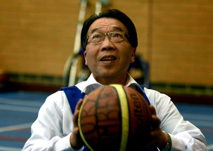 The Bury Bombers wheelchair basketball club celebrate their 20th annivarsary with an open evening at the Culford School Sports Centre'Cllr Patrick Chung'Picture: Andy Abbott