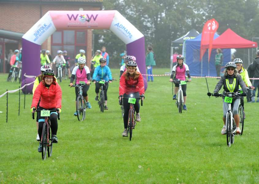 Women On Wheels Sudbury 2017 - cycling event in aid of St Nicholas Hospice Care.'''Picture: Mecha Morton