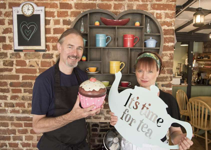 Linda Gregory and partner Mark Sutcliffe who are opening of new vegetarian restaurant'Kind Cuisine, 11a Friars Street, Sudbury''Picture Mark Westley ANL-160913-205514009