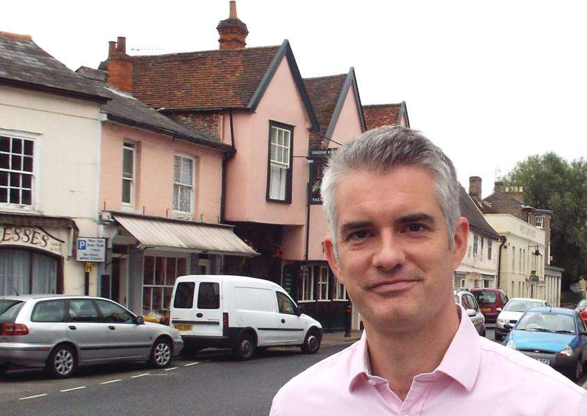 South Suffolk MP James Cartlidge in Hadleigh