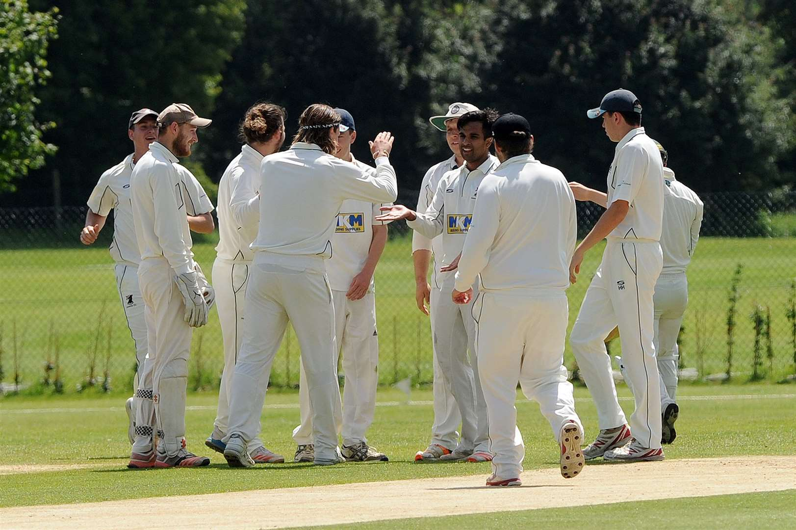 CRICKET - Woolpit (batting) v Haverhill (bowling/fielding)..Pictured: Haverhill...PICTURE: Mecha Morton... (13191210)