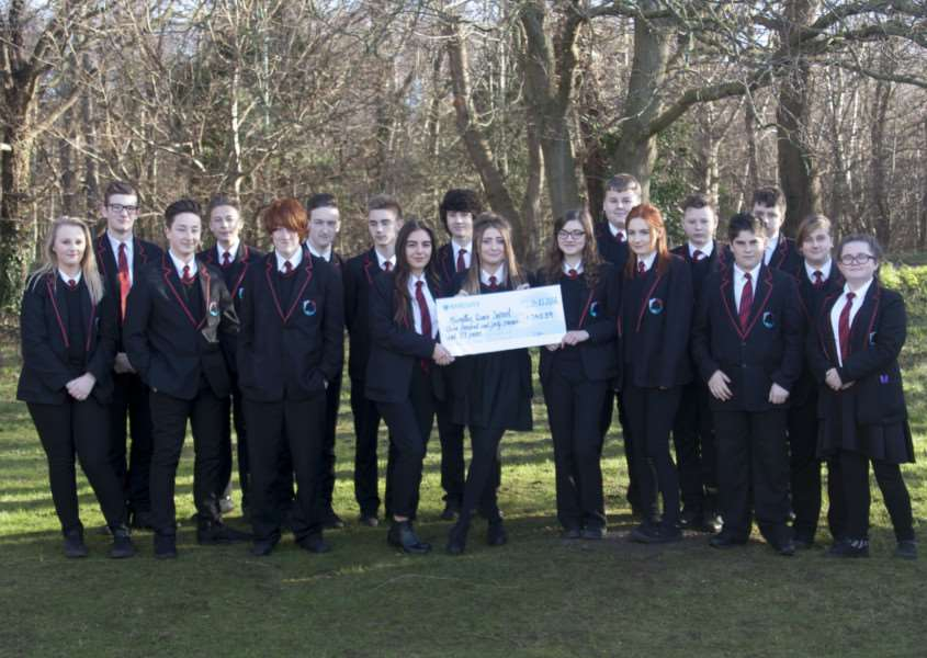 Year 10 Business Studies students from Mildenhall Academy have raised ?340.89 for Macmillan Cancer Support ANL-160120-172647001
