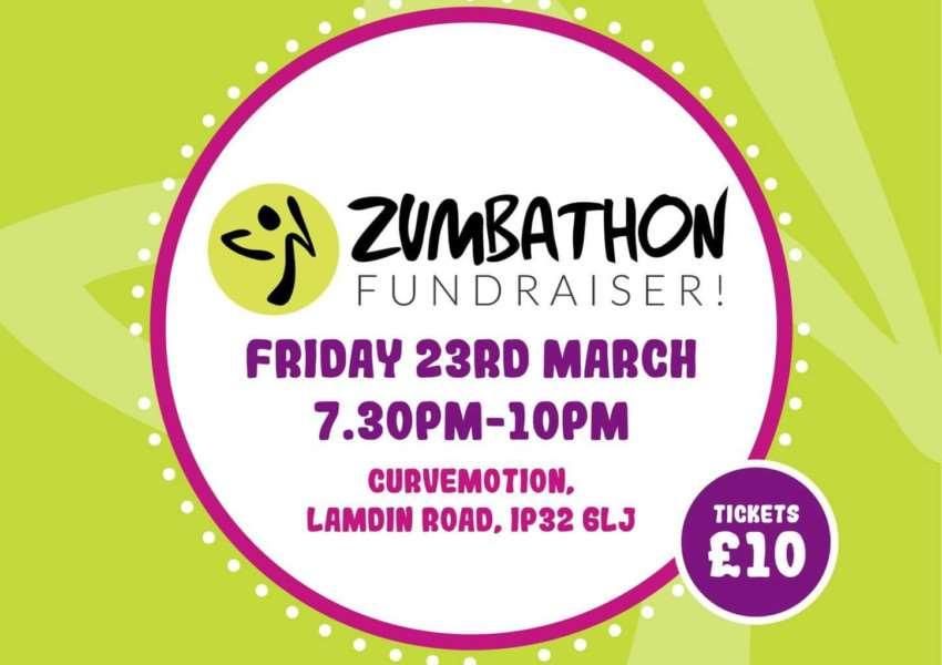 The Zumbathon is being held on Friday, March 23 to raise money for Children With Cancer UK, the British Lung Foundation and the My WiSH charity at West Suffolk Hospital