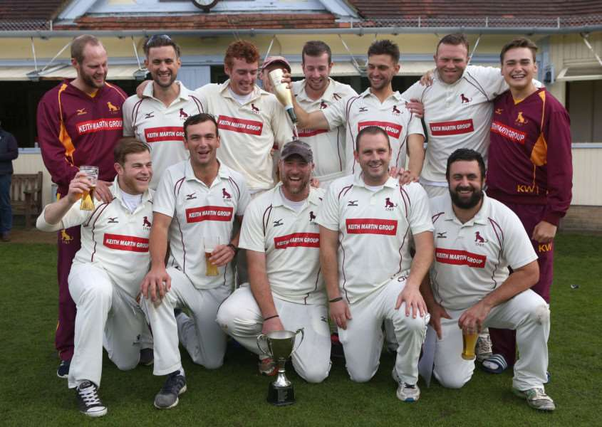 CELEBRATION: Sudbury were delighted to win the title for the first time in the club's history