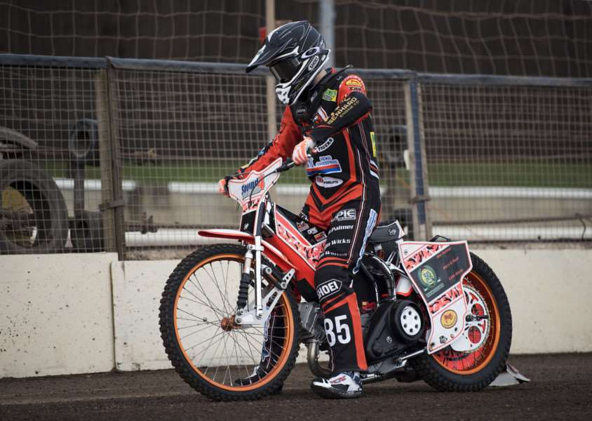 BACK FOR MORE: Jordan Jenkins will once again line up for the Mildenhall Fen Tigers in 2018