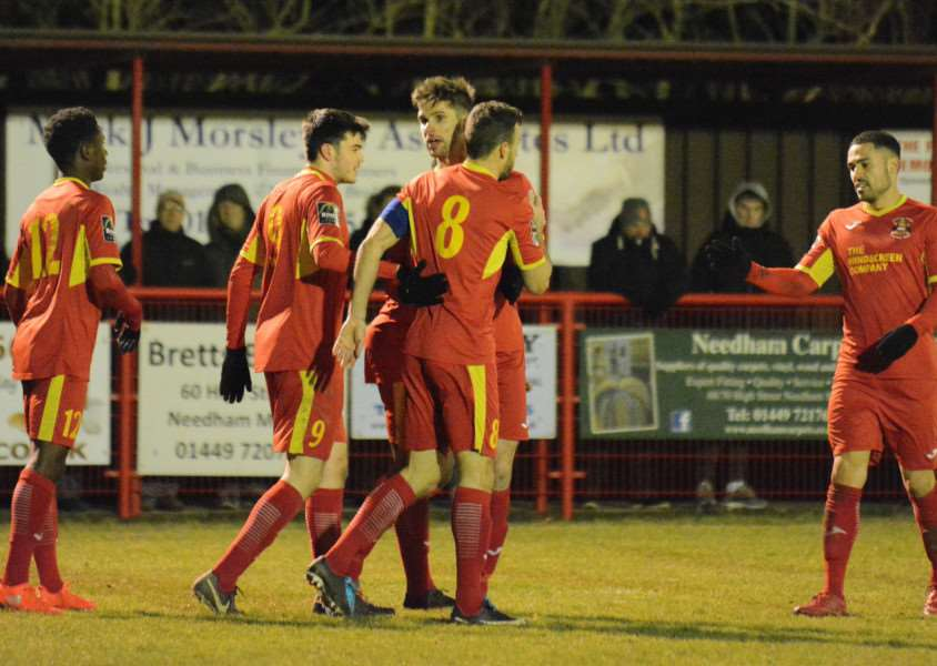 MATCH WINNER: Gareth Heath (8) scored the winning goal on Tuesday (Picture: Ben Pooley)