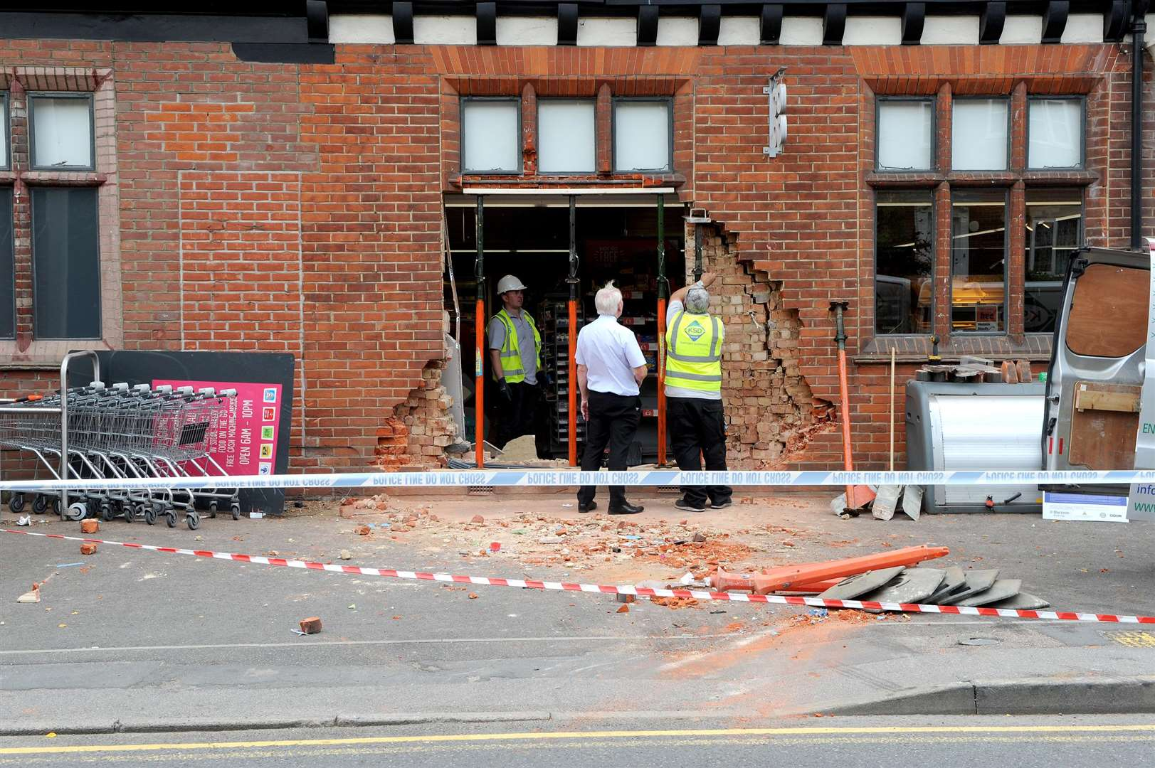 The Co-operative in Halstead was ram raided on Monday night.....PICTURE: Mecha Morton. .. (3490479)