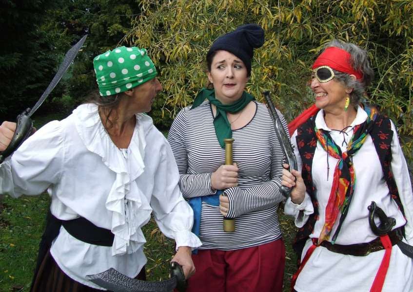 Elin Massey, Jaclyn Taylor and Sara Knight play pirates in Treasure Island ANL-161124-111559001