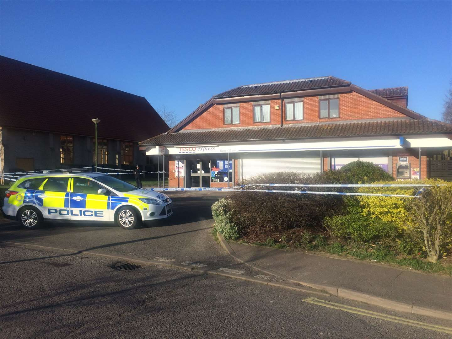 Police at scene of Tesco Express, in Lawson Place, Bury St Edmunds(32782582)