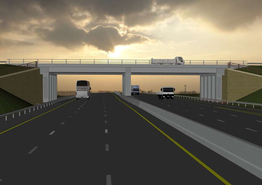 Artist's impression of how the new road will look
