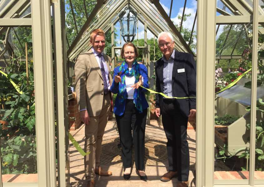 Helen Ghosh, director general, National Trust, opens the Ickworth greenhouse at Chelsea Flower Show ANL-160524-115026001