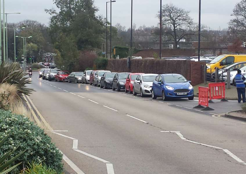 Cars queue up at Bury's car parks