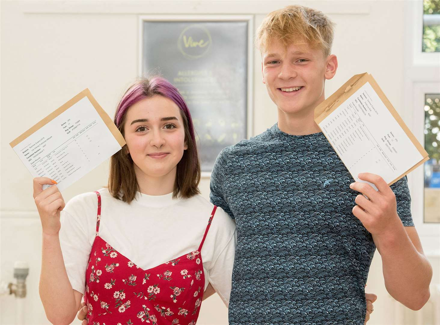 Fred Kirk and Lily Milbank at Newmarket Academy (Picture: Mark Westley)