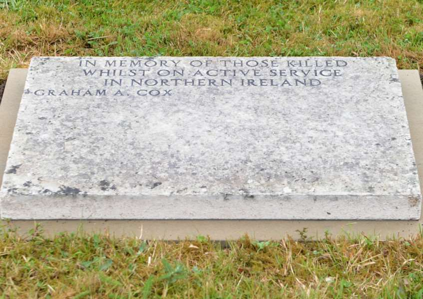 The Northern Ireland memorial to Sergeant Graham Alfred Cox ANL-160622-191428009