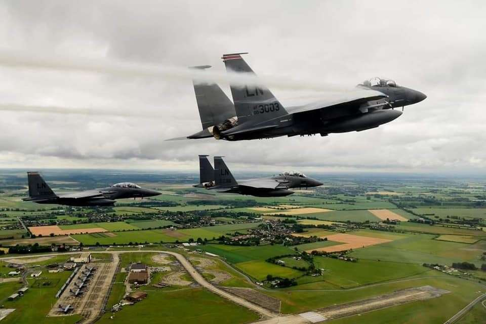 Missing man formation for First Lt Kenneth Allen. U.S. Air Force photo/Master Sgt. Matthew Plew