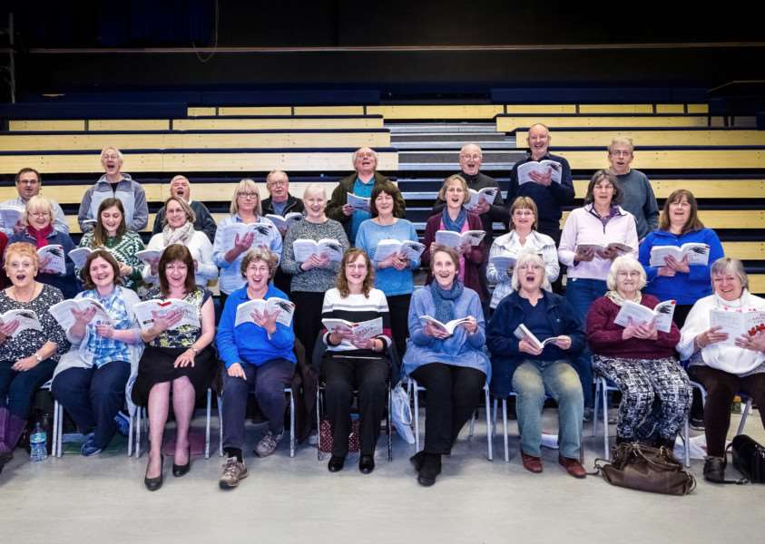 Haverhill Operatic Society and Haverhill Choral Society members in rehearsal for the Carols for All concert. Picture: Andy Mayes/Idyllic Imagery ANL-161212-110738001