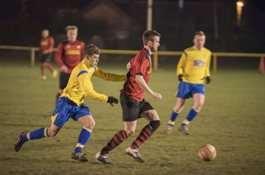 Newmarket Town Football Club v Walsham le Willows. Andrew Wood. Pictures Mark Westley ANL-160228-235854009