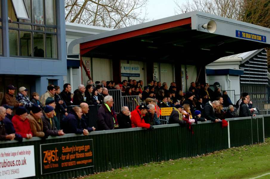 AFC Sudbury crowd at Brundon Lane.