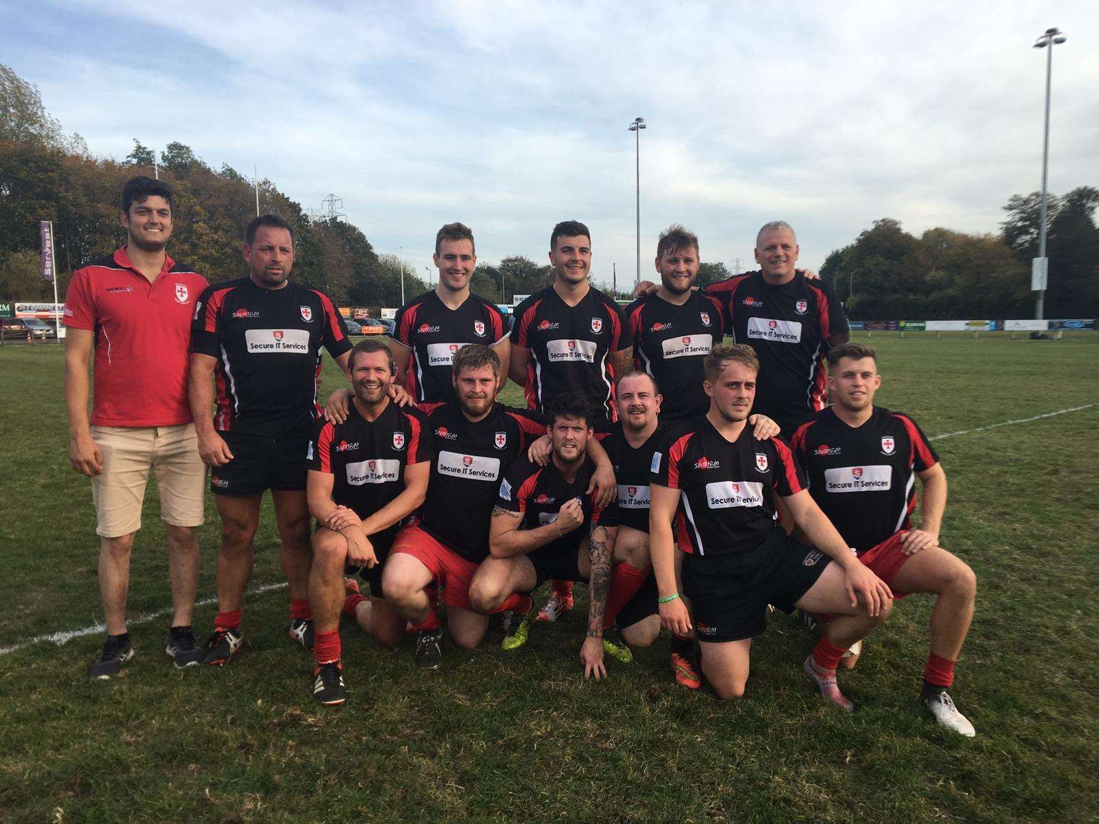 WINNING FEELING: The Halstead Templars second team