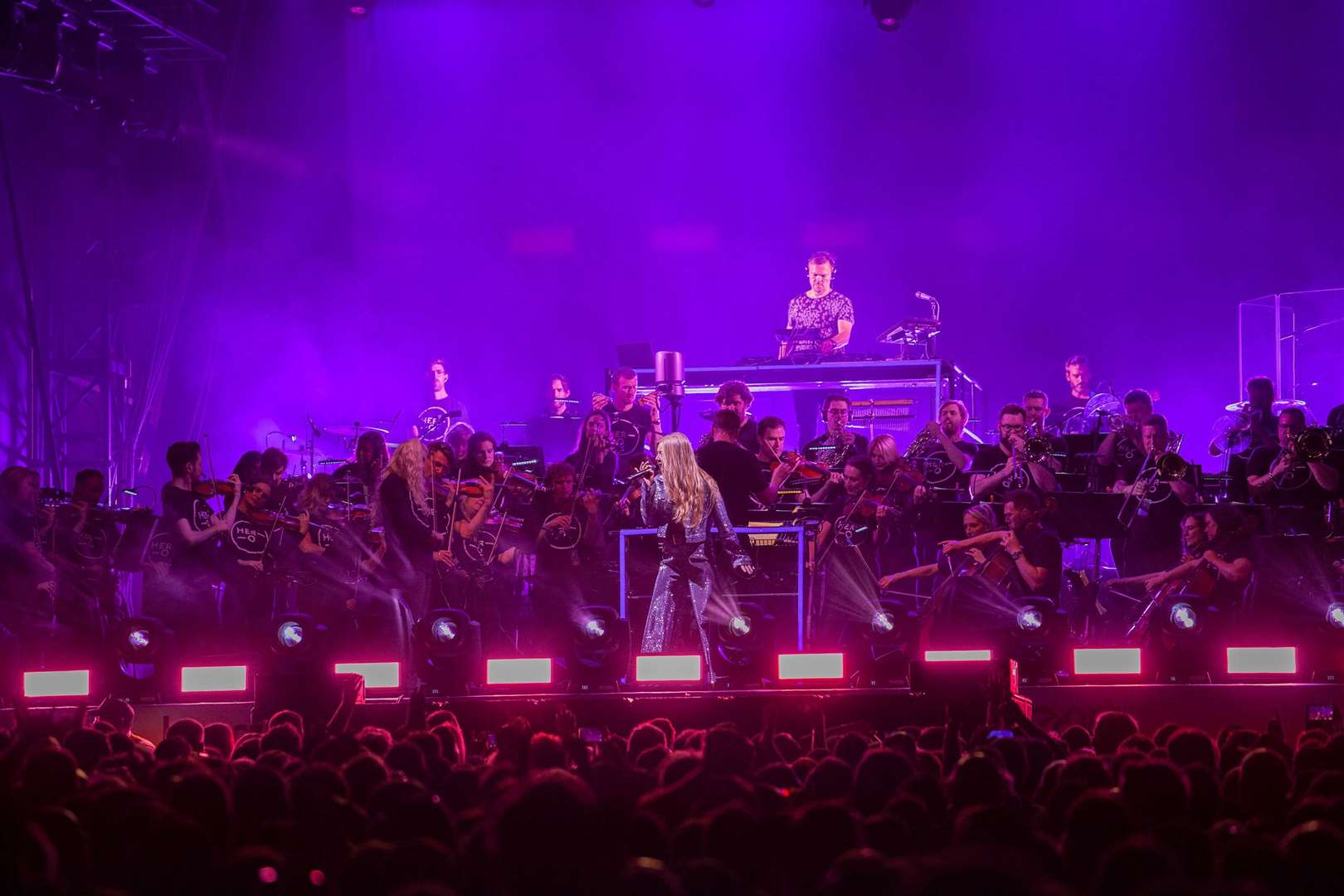 Pete Tong and The Heritage Orchestra at Newmarket Nights. Photo by Angela Smith.