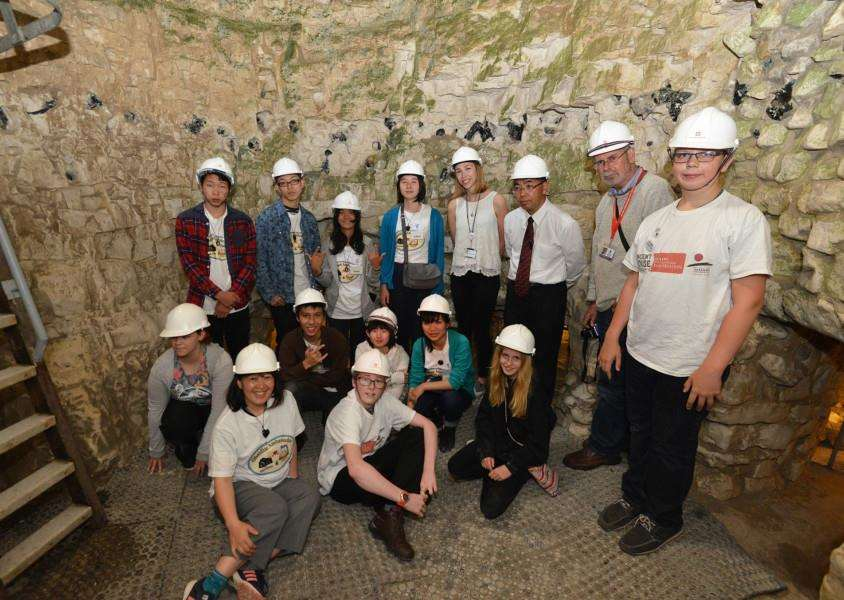 Students and academics from Thetford and Japan come together to celebrate the twinning of the English Heritage site Grime's Graves with the Hoshikuso obsidian mine