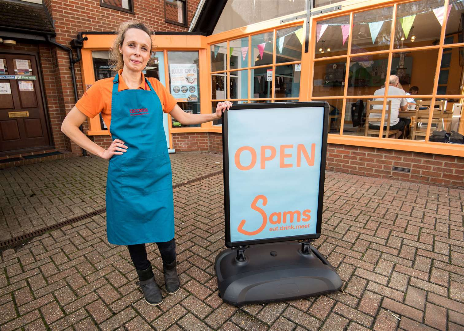 Chantelle Hollis, manager of Sam's Coffee House, hopes residents will get behind the venturePicture by Mark Westley