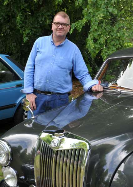 Cars on the Green in Nowton Park''Pictured: Grant Howlett with his 1955 MG ZA ANL-150621-234836009