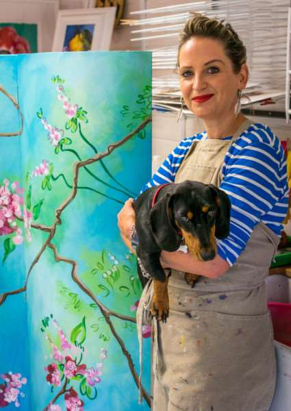 All painter printmaker Lucy Perry's work is informed by natural forms (photo: Thetford photography)