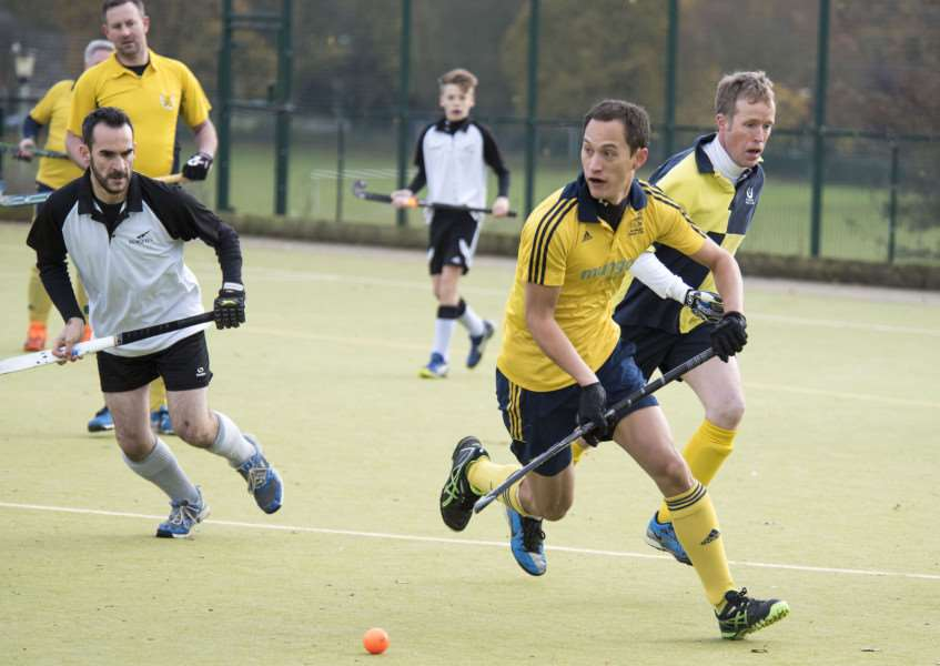 HOME DEFEAT: James McTaggart in action for Newmarket Men's II during their weekend loss