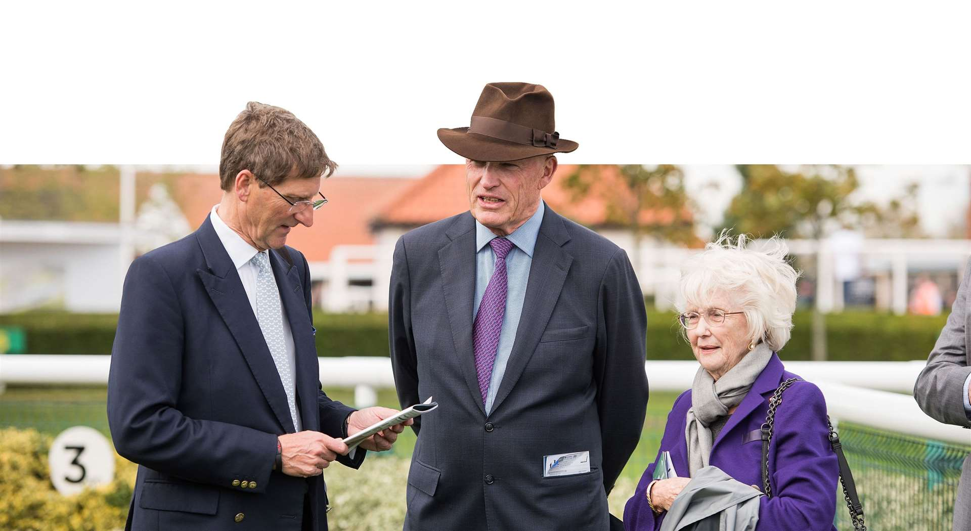 Cheveley Park Stud's managing director Chris Richardson (left) and stud owner Patricia Thompson (right) are eyeing up success at Cheltenham next week