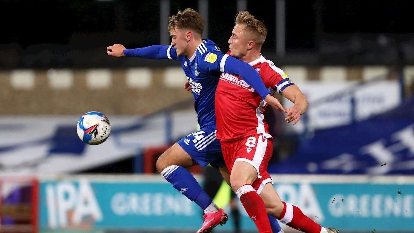 Jack Lankester in action for Ipswich Town in the 1-0 home win against GillinghamPicture: ITFC (42889741)