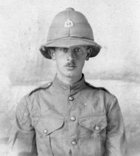 Jack in 1916 by then serving in the Middle East. This was probably the last photograph his parents had of their son, and above, the teenage soldier... Jacksent the photograph as a postcard to one of his sisters