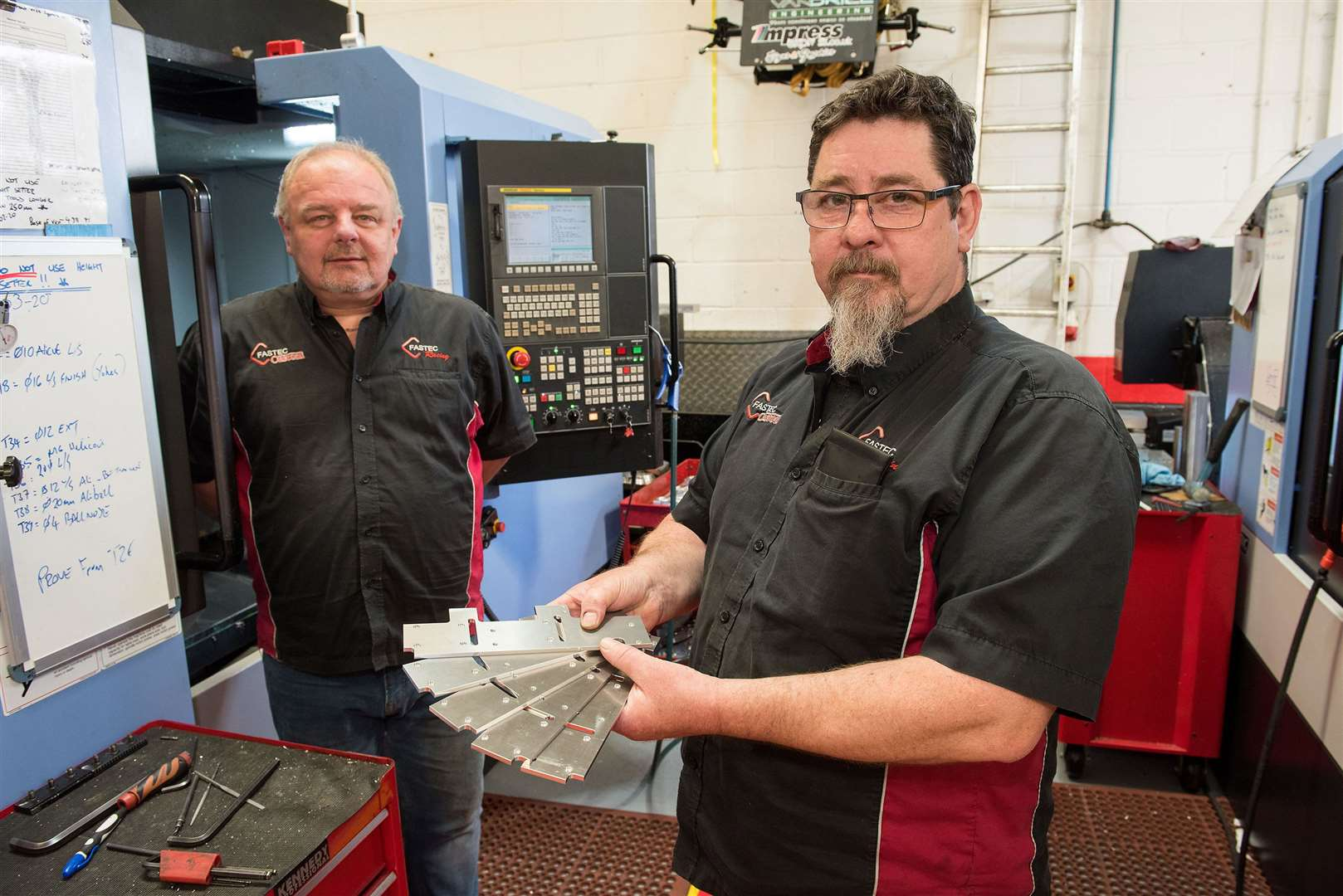 Fastec Racing Newmarket in the process of manufacturing 550 parts for ventilator machines to help with current demand. Danny Starmer and John Williams directors. Picture by Mark Westley. (33973814)