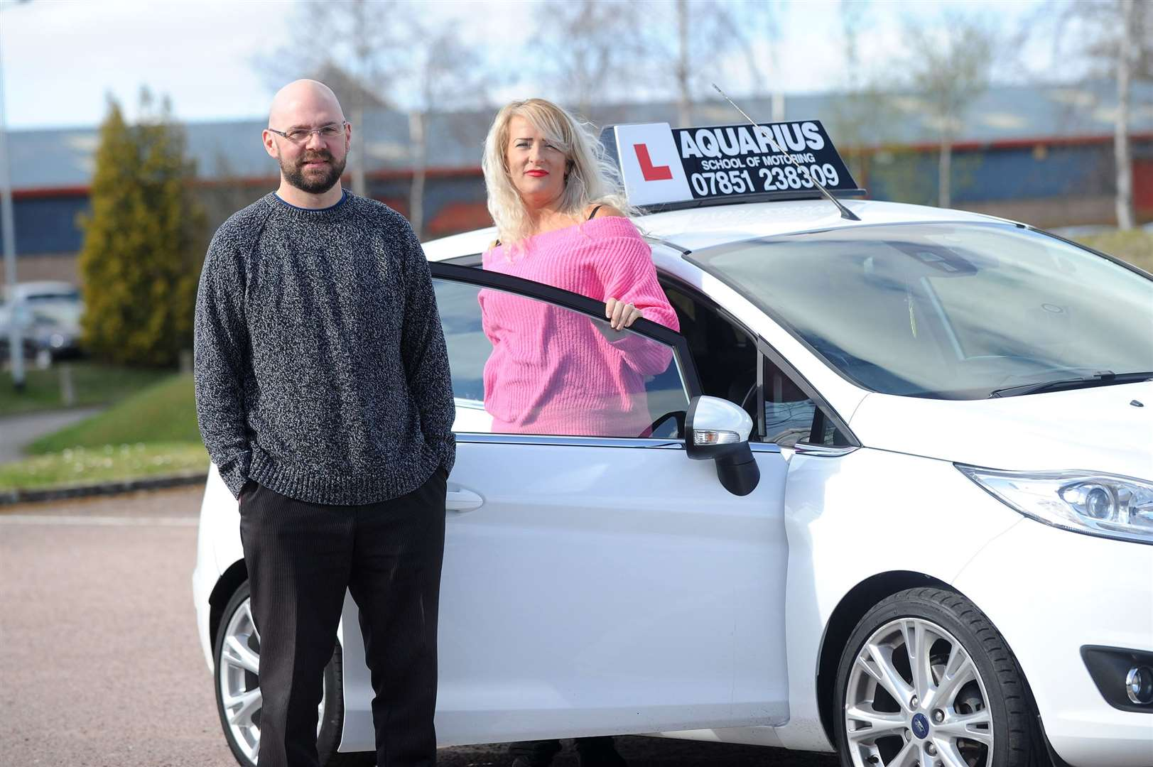 Driving school instructor Tarah McIntyre and Benjamin Ryan from Sudbury Hypnosis have teamed up to offer learner drivers the chance to have hypnosis for driving nerves.....PICTURE: Mecha Morton... (8055445)