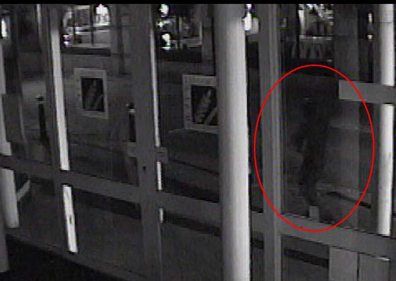 A figure in dark clothing at 3.35am in Cornhill Walk. ANL-160812-110526001