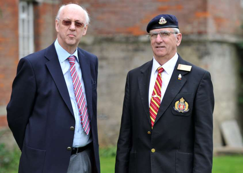 FEATURE - Suffolk Regiment Museum''Pictured: Gwyn Thomas and TIm Davis ANL-150913-205400009