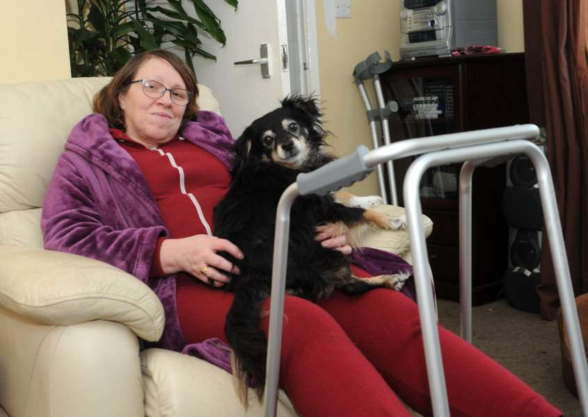Lynn Curtis has been disabled since 1991 when she was hit by a car in London. She has been out of work since then but after an assessment this month has been told she is suitable to work and must attend an activity course.''''PICTURE: Mecha Morton