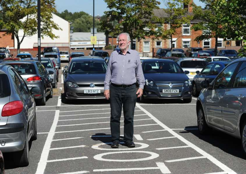 David Netttleton is angry that a footpath through the St Andrews Street car park has been diverted to create six new spaces'' ANL-160823-152332009