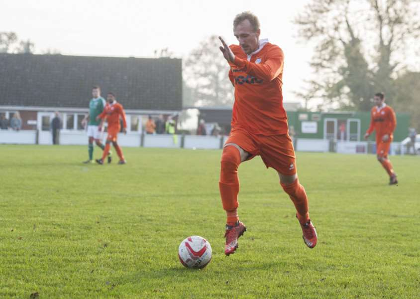 SEEING RED: Jason Armes dismissal proved pivotal as Halstead Town went on to secure a 3-1 victory away at Diss Town