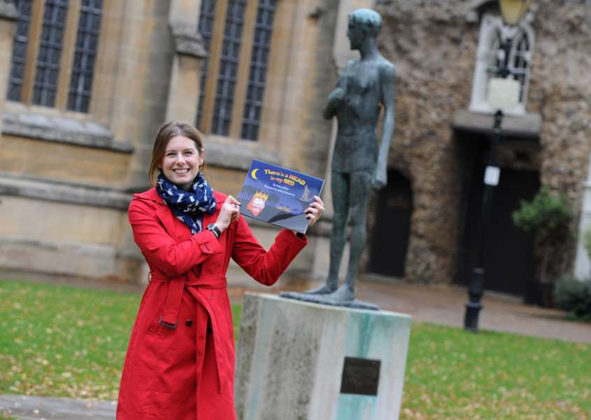 Hatty Ashton, of Bury St Edmunds, has published her own book There's a Head in My Bed aimed at three to seven-year-olds which tells the story of what happens to St Edmund's head before it is discovered.